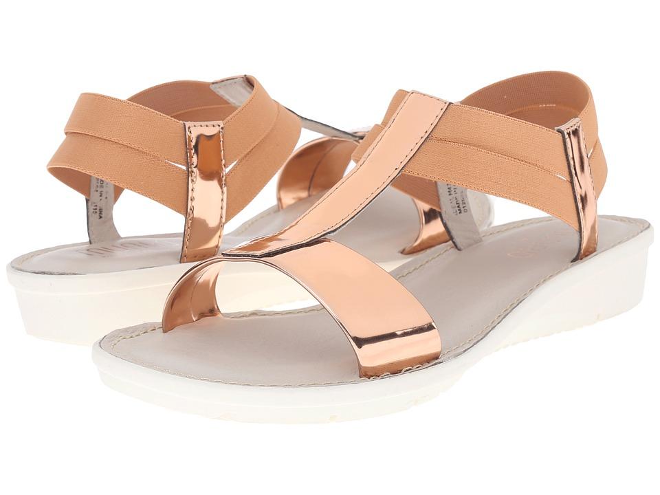 Munro American Ideal Rose Mirror/Pink Elastic Womens Sandals