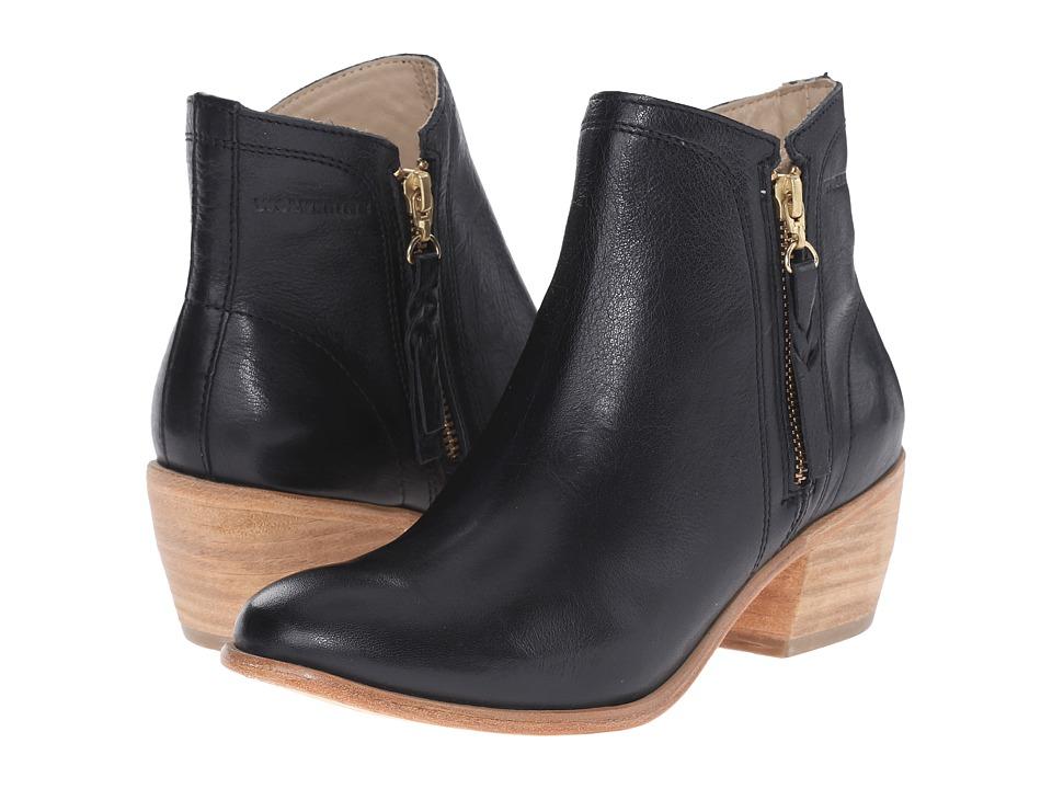 Wolverine Ella 5 Black Leather Womens Zip Boots