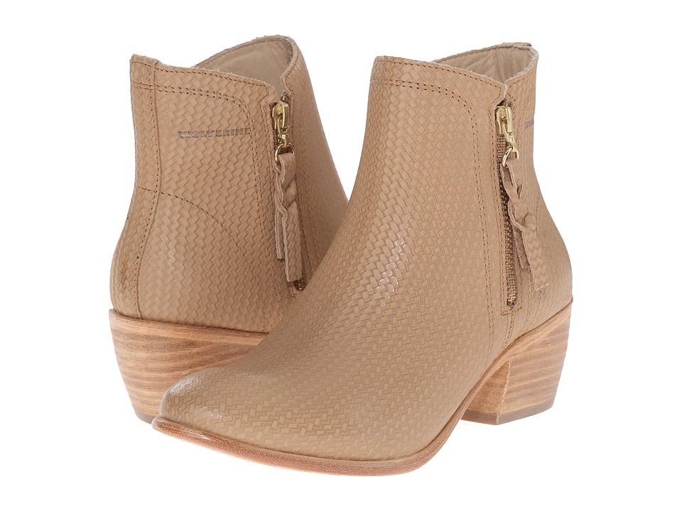 Wolverine Ella 5 Beige Leather Womens Zip Boots