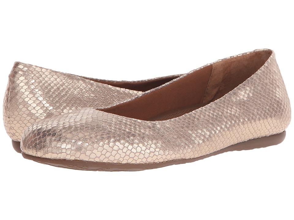 Walking Cradles Blue Platino Metallic Snake Print Womens Flat Shoes