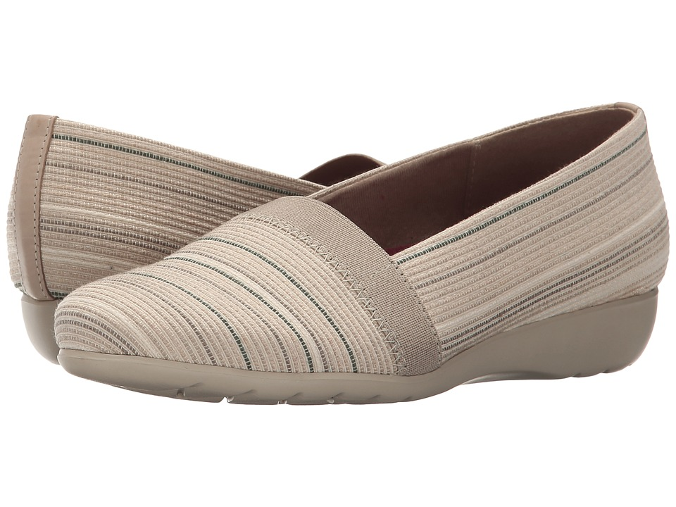 Munro American Bonita Natural Metallic Fabric Womens Slip on Shoes