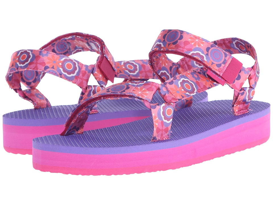 Teva Kids Hi Rise Universal Little Kid/Big Kid Pink Multi Flower Girls Shoes