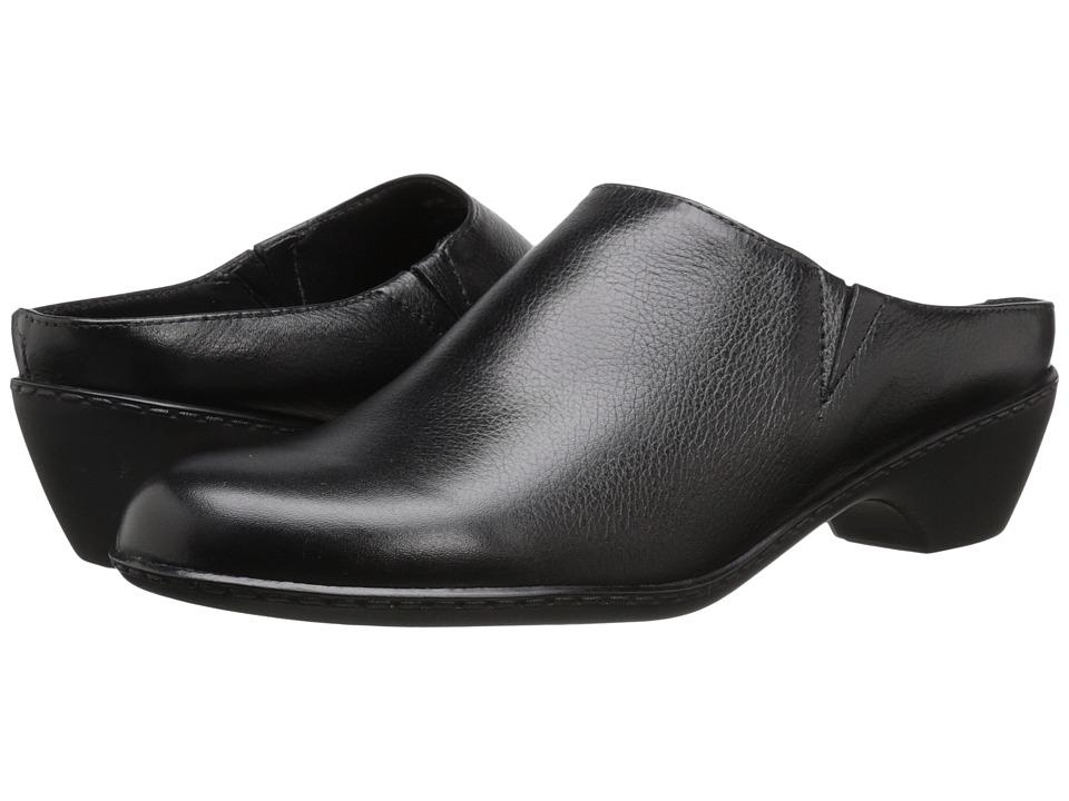 Walking Cradles Cane Black Soft Tumbled Leather Womens Shoes