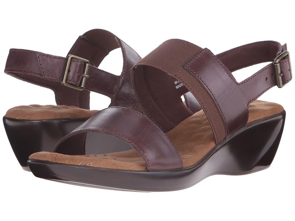 Walking Cradles Climb Tobacco Leather Womens Sandals