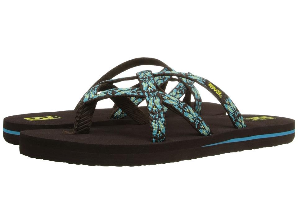 Teva Kids Olowahu (Little Kid/Big Kid) (Hazel Chocolate/Scuba Blue) Girls Shoes