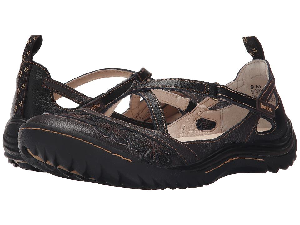Jambu - Blossom Encore (Black Earth) Womens Hook and Loop Shoes