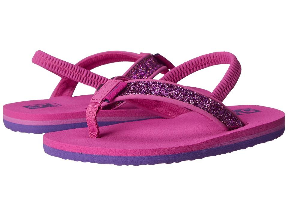 Teva Kids Mush II (Toddler) (Fuchsia Sparkle) Girls Shoes