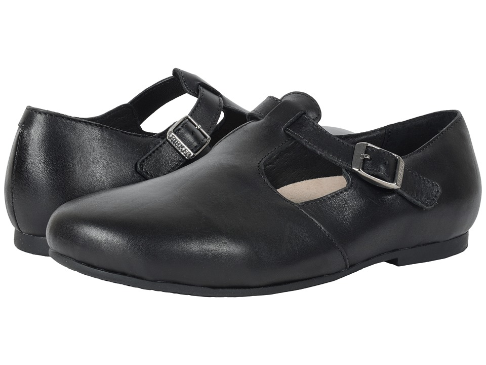 Birkenstock Tickel (Black Leather) Women's Shoes