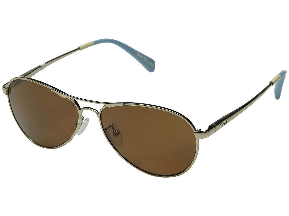 TOMS - Kilgore Polarized (Gold) Fashion Sunglasses