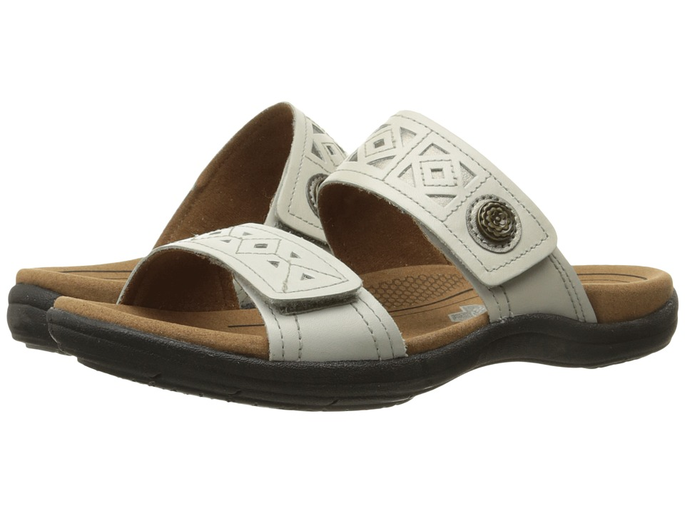 Cobb Hill REVsoul White Multi Womens Slide Shoes