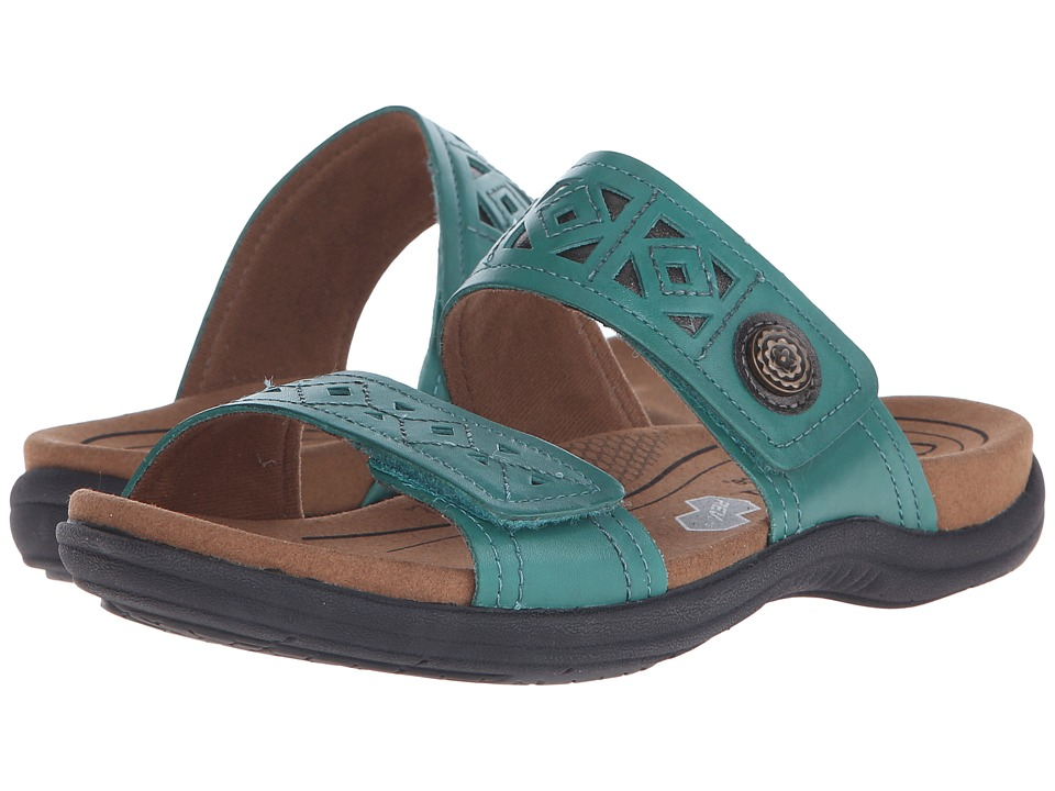 Cobb Hill REVsoul Teal Multi Womens Slide Shoes