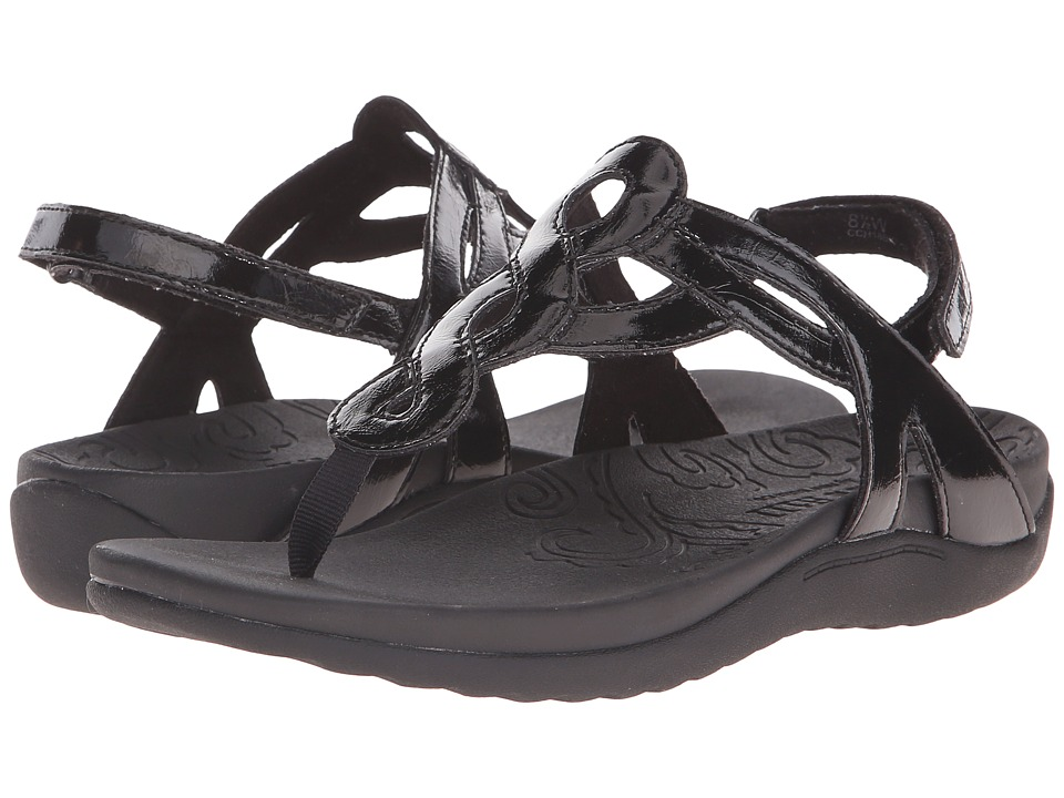 Cobb Hill Ramona Black Patent Womens Sandals