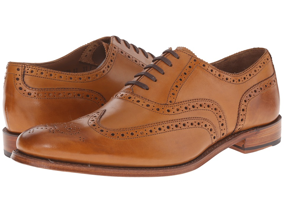 Grenson Dylan Tan Calf Mens Lace Up Wing Tip Shoes