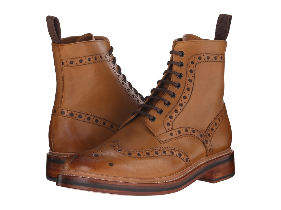 Grenson Fred (Tan Calf) Men's Lace-up Boots