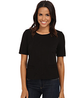 Calvin Klein - Short Sleeve Ponte Top w/ Pockets