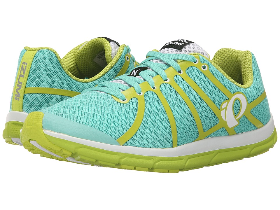 Pearl Izumi EM Road N 1 v2 Aqua Mint/Lime Punch Womens Running Shoes