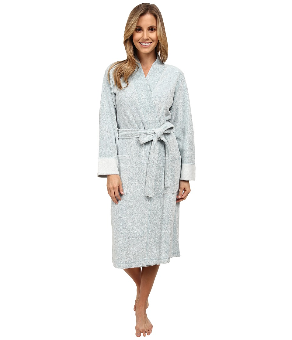 N by Natori N Natori Brushed Terry Nirvana Robe Heather Teal Jade Womens Robe