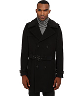 The Kooples - Soft Military Wool Coat w/ Removable Collar