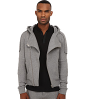 The Kooples - Sport Patch Classic Fleece Motor Hoodie