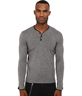 The Kooples - Leather Piping Merino Sweater
