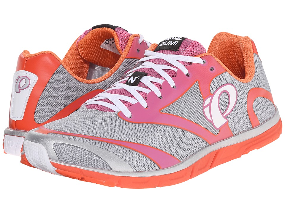 Pearl Izumi Em Road N 0 v2 Silver/Clementine Womens Running Shoes