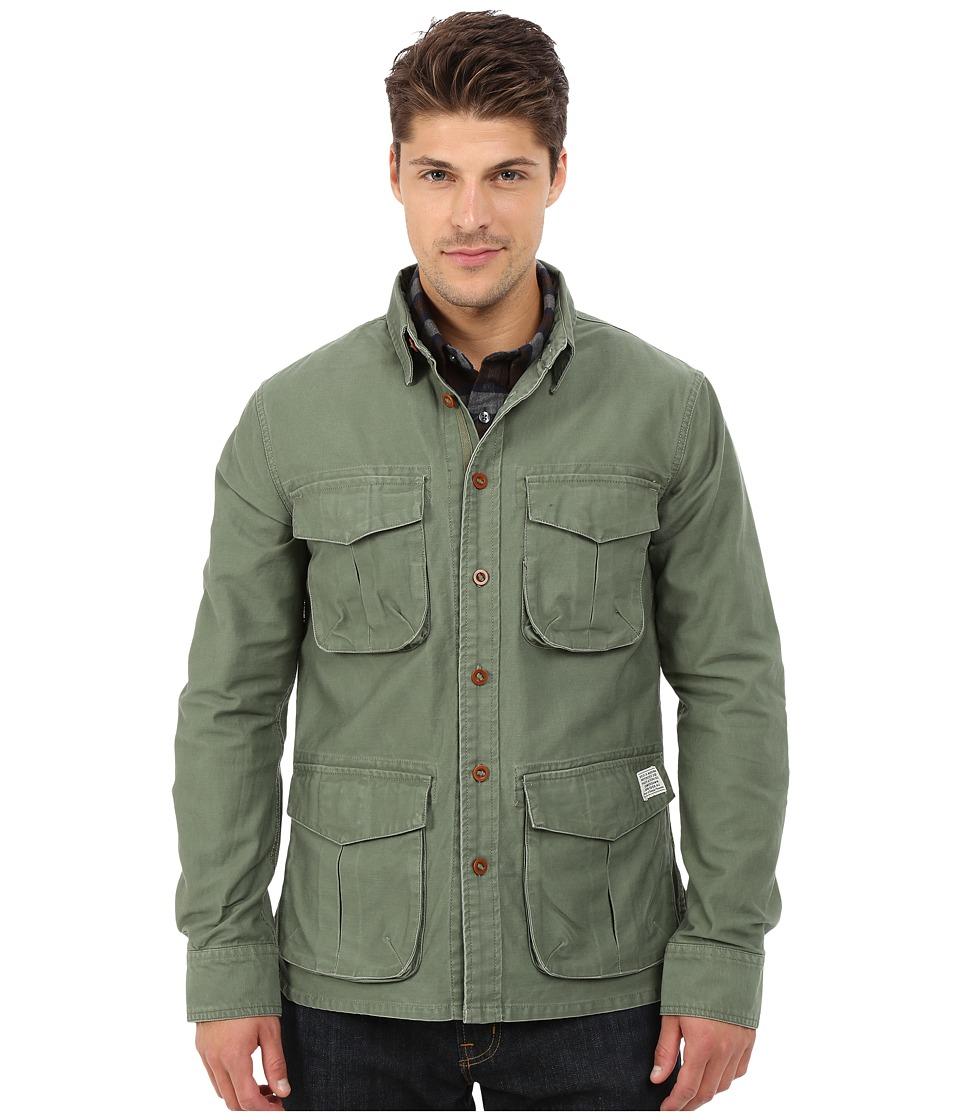 Deus Ex Machina Bravo Overshirt Jacket Army Green Mens Coat