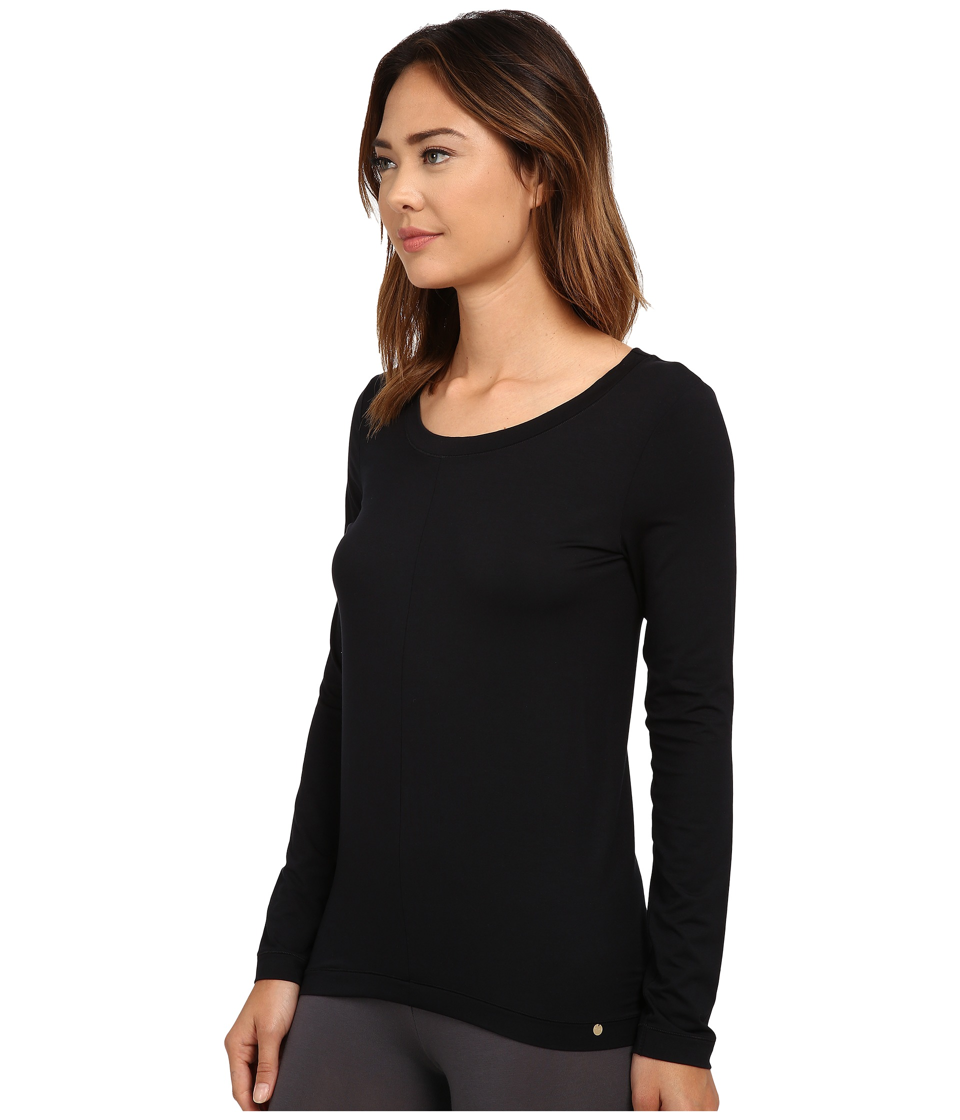 Hanro Yoga Basics Long Sleeve Top At Zappos.com