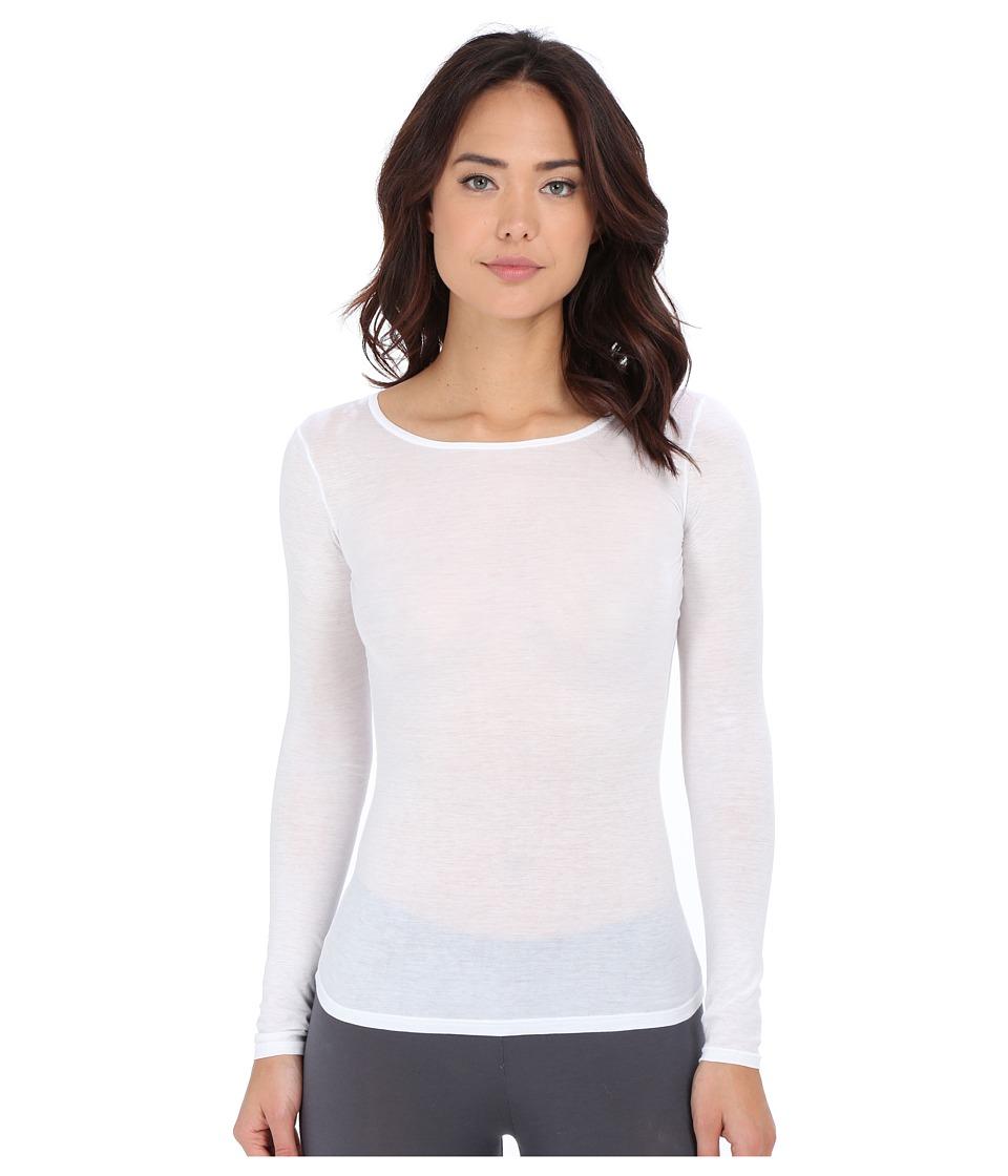 Hanro Ultralight Long Sleeve Top (White) Women