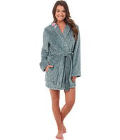 Jane & Bleecker - Two-Tone Plush & Flannel Robe 3541069