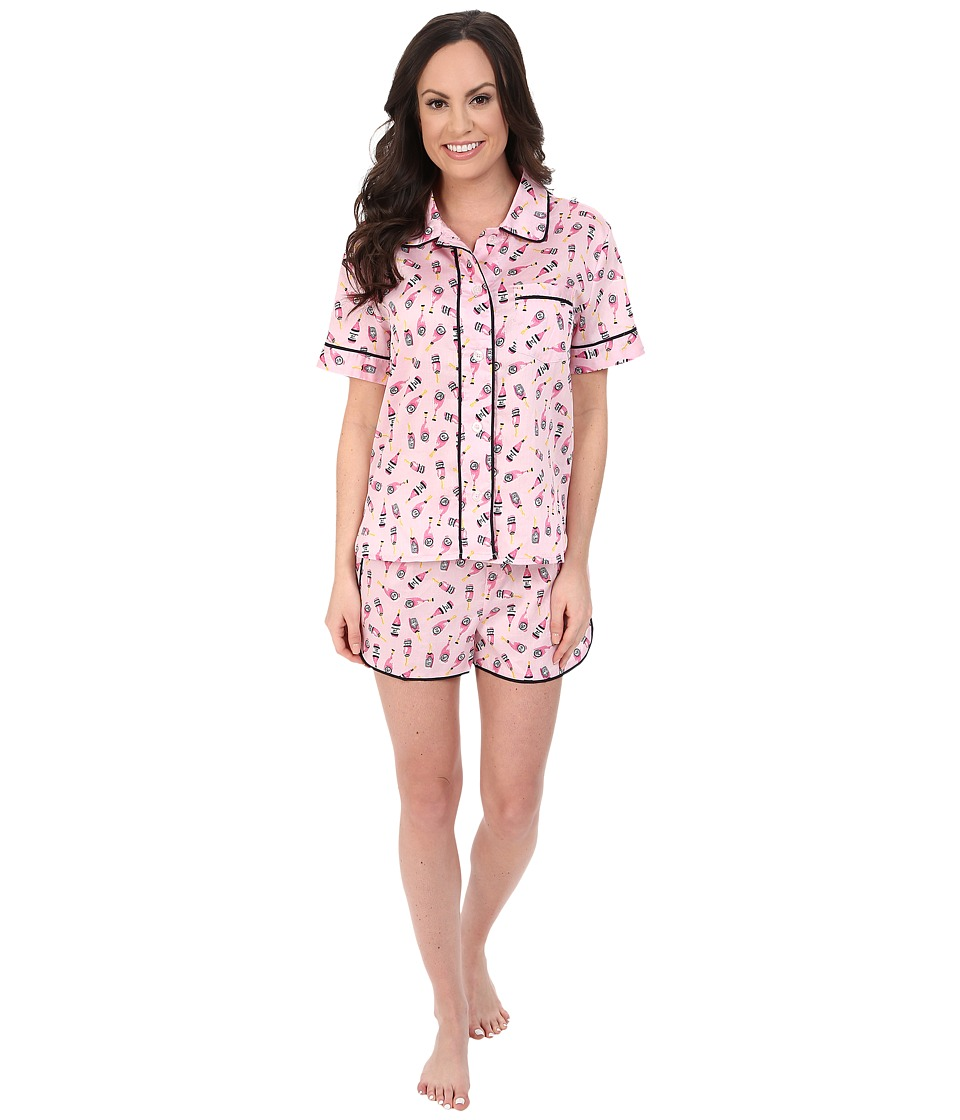 Jane amp Bleecker Sateen Short PJ Set 3511064 Pink Champagne Womens Pajama Sets