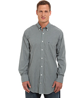 Nautica Big & Tall - Big & Tall Mini Plaid Cotton Tencel Wrinkle Resistant Long Sleeve