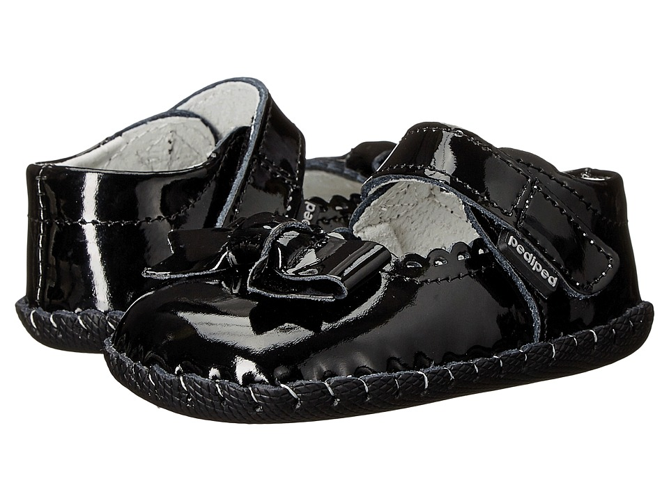 pediped - Betty Original (Infant) (Black Patent) Girls Shoes