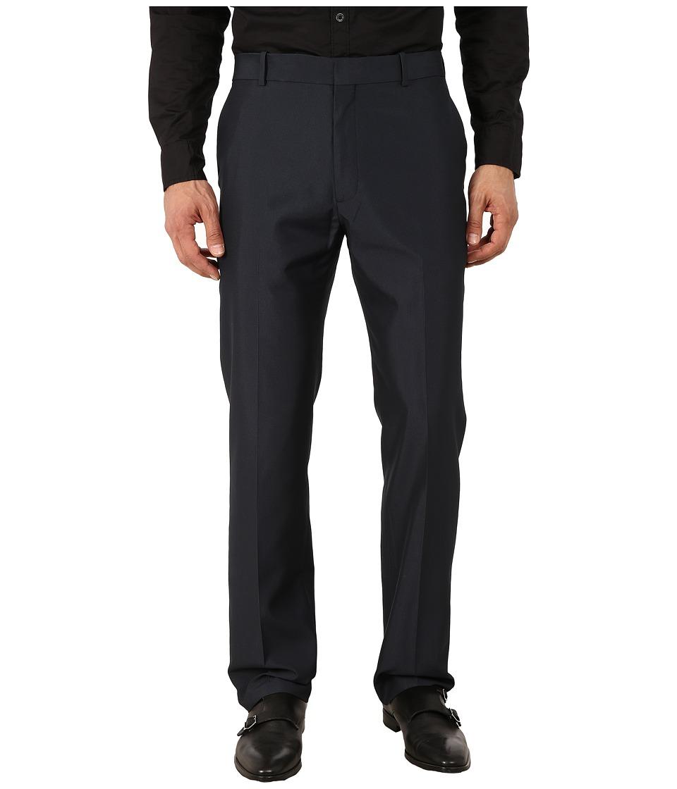 Perry Ellis Portfolio Modern Fit Tonal Plaid Pants Navy Mens Dress Pants