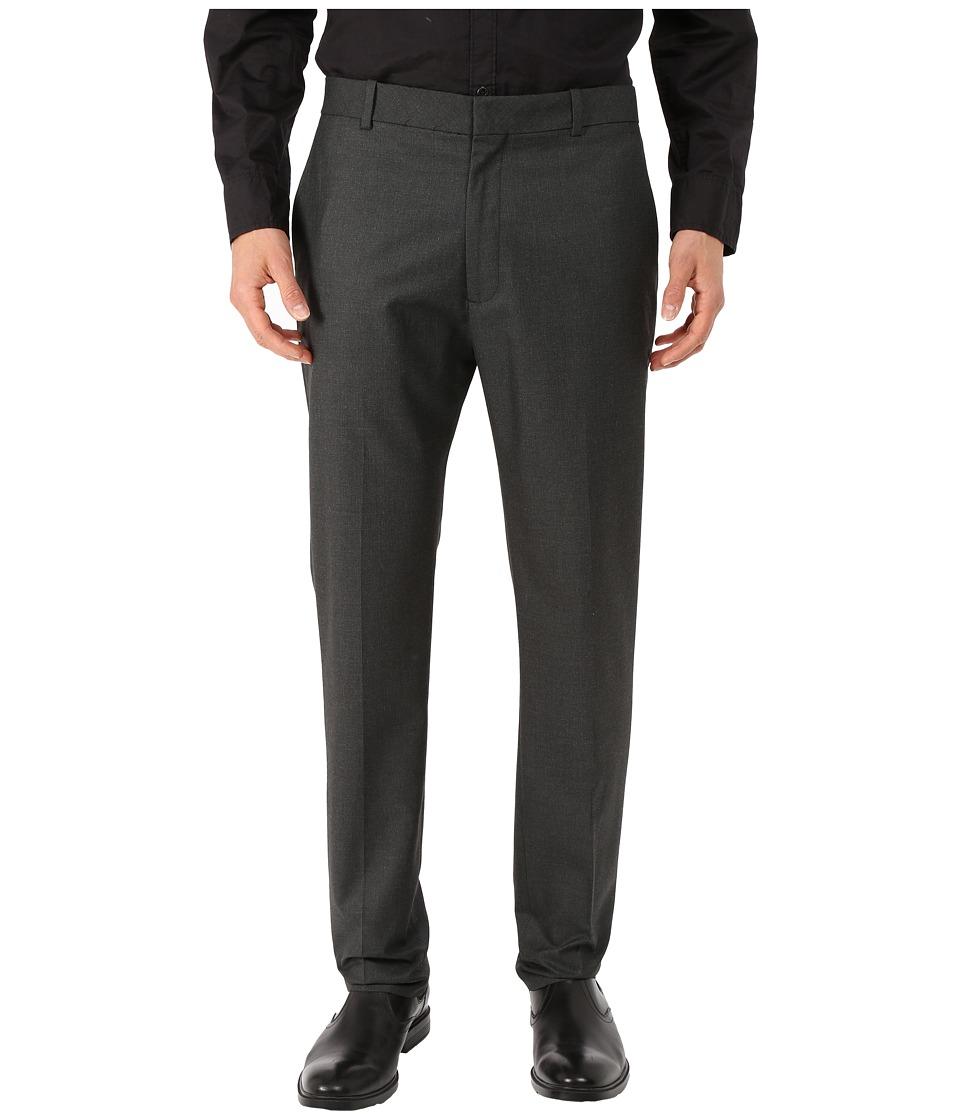 Perry Ellis Portfolio Slim Fit Neat Pants Charcoal Mens Dress Pants