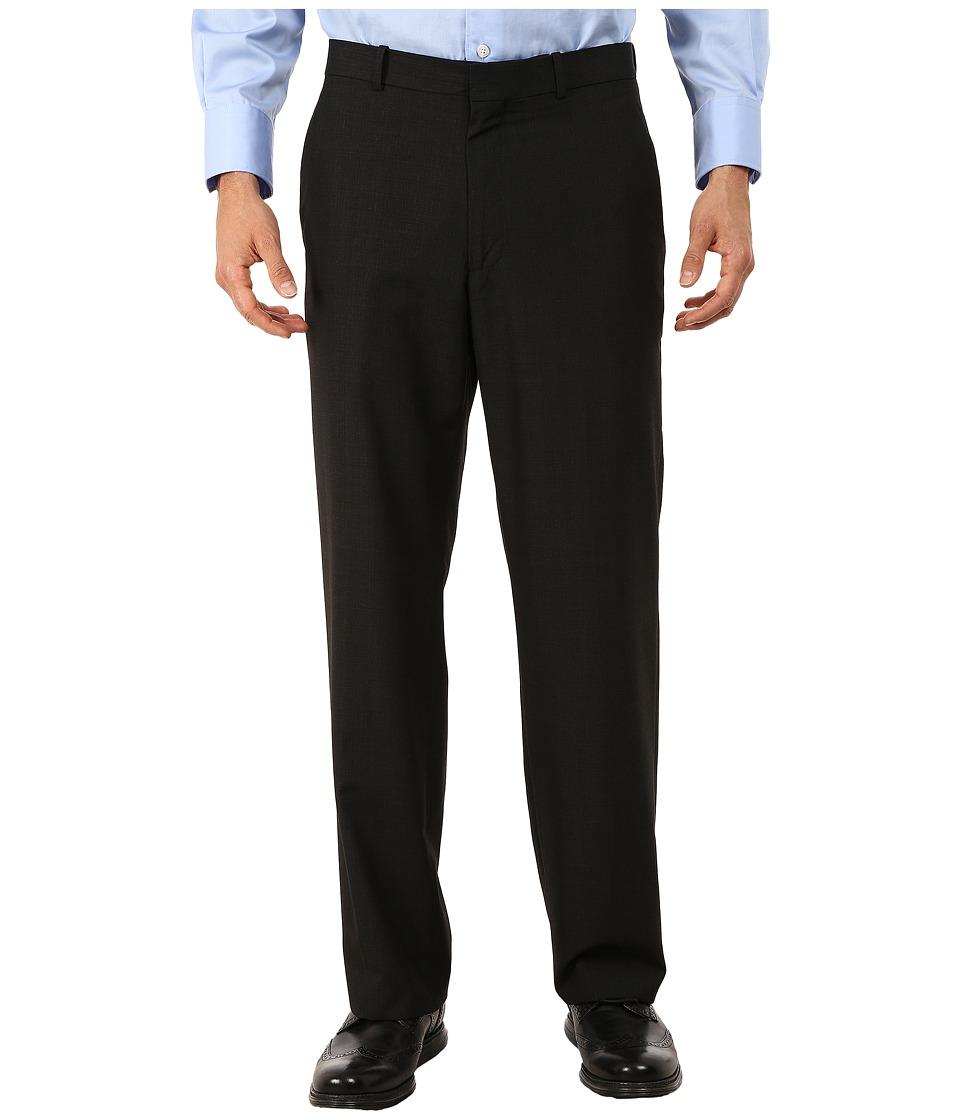 Perry Ellis Portfolio Classic Fit Small Subtle Plaid Pants Black Mens Dress Pants