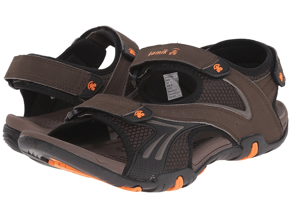 Kamik Silverlake Dark Brown Mens Sandals