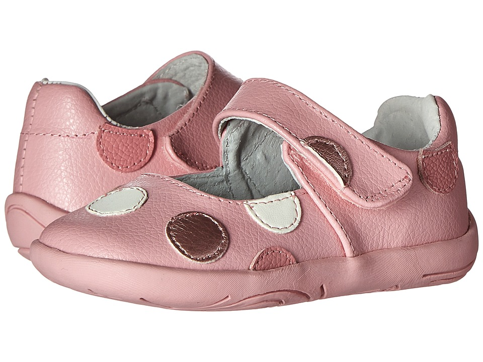 pediped Giselle Grip n Go Toddler Mid Pink Girls Shoes