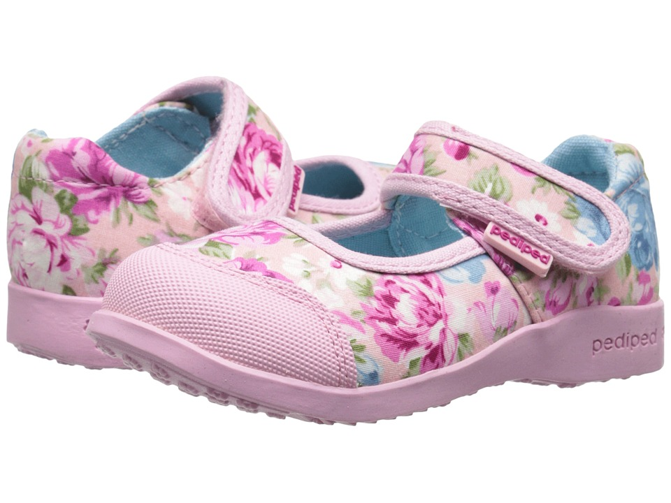pediped Bree Flex (Toddler/Little Kid) (Pink Floral) Girl's Shoes