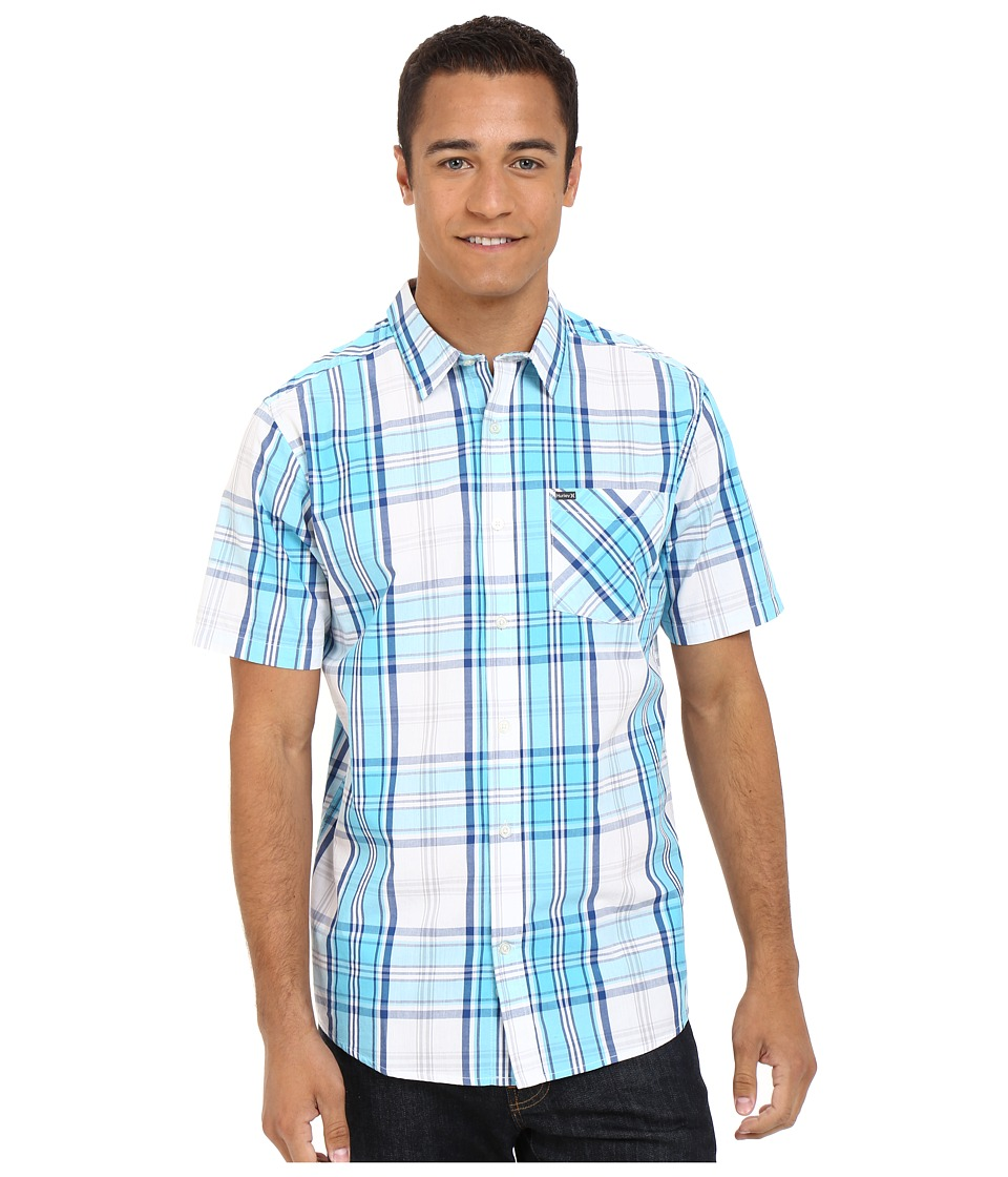 Hurley Carson Short Sleeve Woven Beta Blue Mens Short Sleeve Button Up