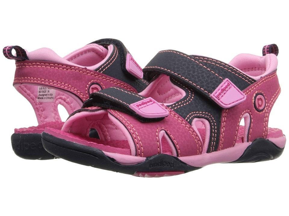 pediped Navigator Flex Toddler/Little Kid Pink/Navy Girls Shoes