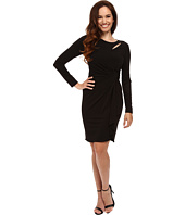 Tahari by ASL Petite - Petite Matte Jersey Side Rouch