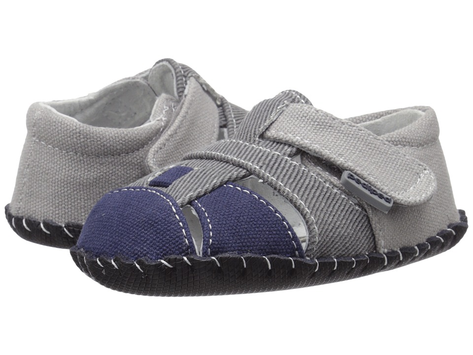 pediped Harvey Originals (Infant) (Grey/Navy) Boy's Shoes