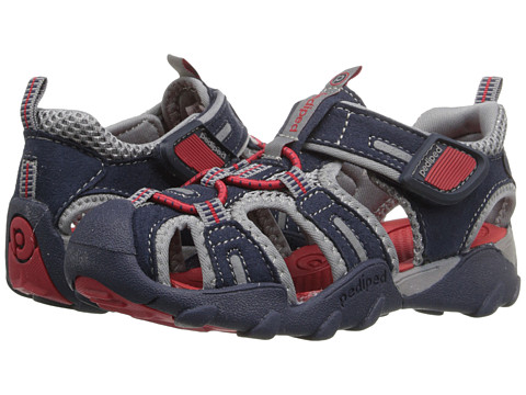 pediped Canyon Flex (Toddler/Little Kid/Big Kid) - Navy/Red