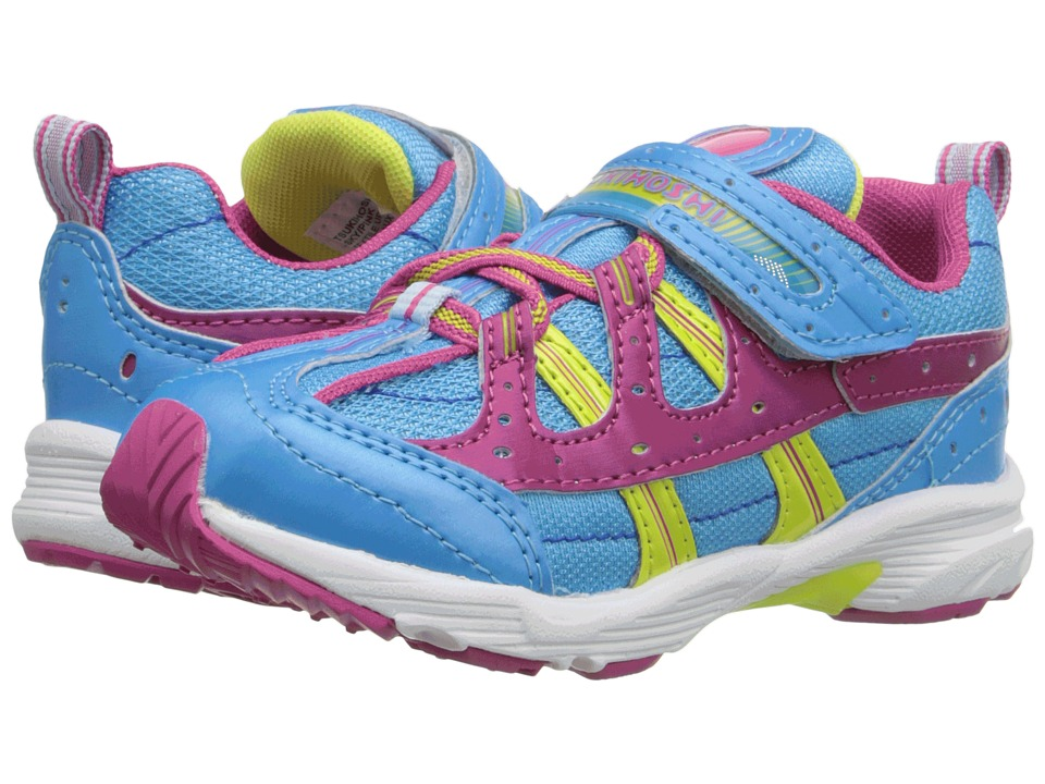 Tsukihoshi Kids - Speed (Toddler/Little Kid) (Sky/Pink) Girls Shoes