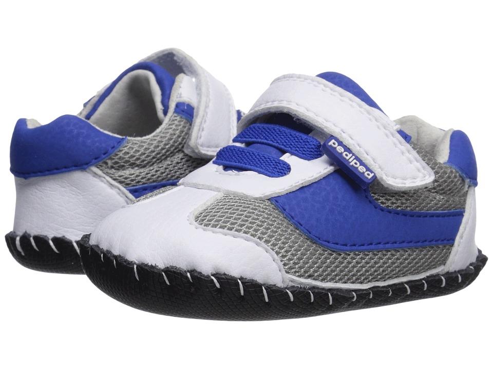 pediped Cliff Originals (Infant) (White/Blue) Boy's Shoes