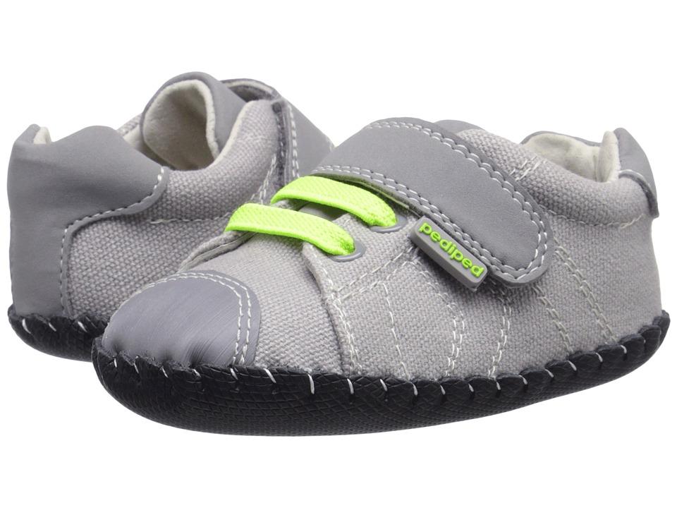 pediped Jake Originals (Infant) (Grey/Lime) Boy's Shoes