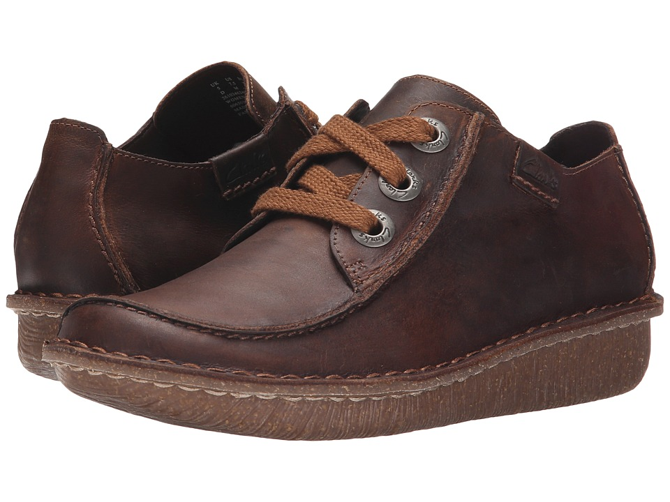 Clarks - Funny Dream (Brown Leather) Womens Lace up casual Shoes