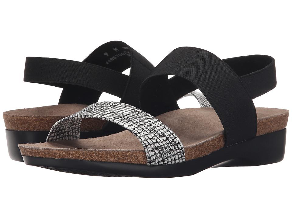 Munro American Pisces White/Black Fabric Combo Womens Sandals
