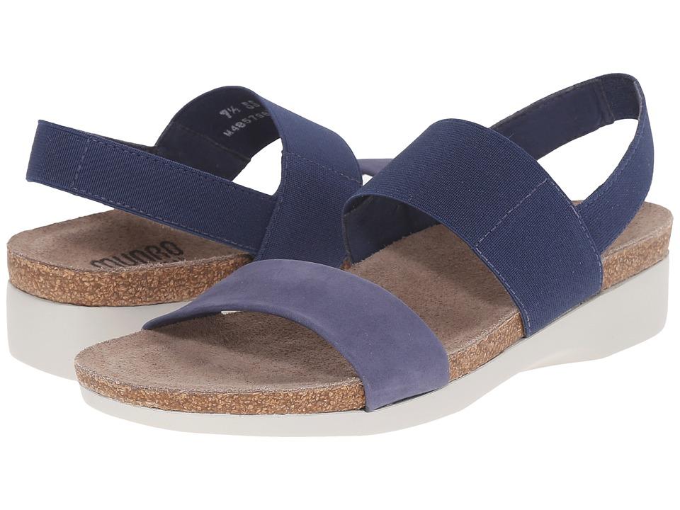 Munro American Pisces Indigo Nubuck Womens Sandals