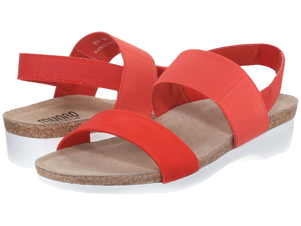 Munro American Pisces Coral Nubuck Womens Sandals